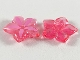 Part No: clikits135pb02  Name: Clikits Icon, Flower 5 Pointed Petals 2 x 2 Large with Pin with Bright Pink Highlights Pattern