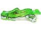 Part No: 11112pb03  Name: Flywheel Fairing Crocodile Shape with Silver Crocodile Pattern (70112)