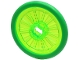 Part No: 24314c02  Name: Wheel Wheelchair with Fixed Bright Green Hard Rubber Tire (1-Piece Wheel)