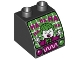 Part No: 11170pb08  Name: Duplo, Brick 2 x 2 x 1 1/2 with Curved Top with Oscilloscope, Controls and Screen with The Joker Laughing Pattern
