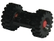 Part No: 122c01assy3  Name: Plate, Modified 2 x 2 with Wheels Red, with Black Tires 21mm D. x 9mm Offset Tread Medium (122c01/ 4084)