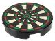 Part No: 14769pb024  Name: Tile, Round 2 x 2 with Bottom Stud Holder with Dart Board Pattern