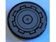 Part No: 14769pb390  Name: Tile, Round 2 x 2 with Bottom Stud Holder with SW AT-AP Walker Hatch Pattern (Sticker) - Set 75234
