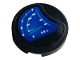 Part No: 14769pb398  Name: Tile, Round 2 x 2 with Bottom Stud Holder with Blue Gauge Pattern (Sticker) - Set 42083