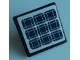 Part No: 15210pb097  Name: Road Sign 2 x 2 Square with Open O Clip with Solar Panels Pattern (Sticker) - Set 60226
