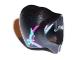 Part No: 15489pb01  Name: Minifigure, Headgear Hood with Magenta and Medium Azure Streaks Pattern