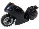 Part No: 18895c17  Name: Motorcycle Sport Bike with Black Frame, Light Bluish Gray Wheels and Black Handlebars