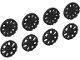 Part No: 18979  Name: Wheel Cover 7 Spoke Y Shape and 10 Spoke T Shape for Wheel 18976, 8 in Bag - 4 of Each (Multipack)