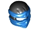 Part No: 19857pb02  Name: Minifigure, Headgear Ninjago Wrap Type 2 with Blue Wraps and Knot Pattern