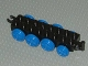 Part No: 22307c01  Name: Duplo, Train Base 2 x 8 with 8 Blue Train Wheels and Movable Hook