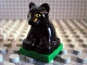 Part No: 2334c03pb02  Name: Duplo Panther Baby Cub on Green Base