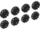 Lot ID: 197336915  Part No: 24308  Name: Wheel Cover 10 Spoke (Spokes in Pairs) and 10 Spoke Y Shape for Wheel 18976, 8 in Bag - 4 of Each (Multipack)
