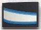Part No: 24309pb026R  Name: Slope, Curved 3 x 2 with White and Blue Curved Stripes Iron Man Eye Pattern Model Right Side (Sticker) - Set 76165