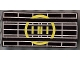 Part No: 2440p69  Name: Vehicle, Spoiler / Plow Blade 6 x 3 with Hinge with Yellow Radar Pattern