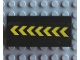 Part No: 2440pb012  Name: Vehicle, Spoiler / Plow Blade 6 x 3 with Hinge with 7 Yellow Chevrons Pattern (Sticker) - Set 6573