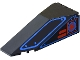 Part No: 2507pb04  Name: Windscreen 10 x 4 x 2 1/3 Canopy with Blue Outlines and Red Square Pattern