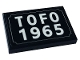Part No: 26603pb145  Name: Tile 2 x 3 with 'TOFO 1965' License Plate Pattern (Sticker) - Set 10271