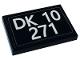 Part No: 26603pb147  Name: Tile 2 x 3 with 'DK 10 271' License Plate Pattern (Sticker) - Set 10271