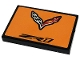 Part No: 26603pb151  Name: Tile 2 x 3 with Chevrolet Logo and Black 'ZR1' Pattern (Sticker) - Set 42093