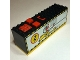 Part No: 2847c02pb01  Name: Electric 9V Battery Box 4 x 14 x 4 with Yellow Base and Power Puller Pattern (Sticker) - Set 8457