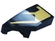 Part No: 29120pb009  Name: Wedge 2 x 1 x 2/3 with Stud Notch Left with Gold Stripes Pattern (Sticker) - Set 76899