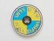 Part No: 2958pb011  Name: Technic, Disk 3 x 3 with Viking Shield Blue / Yellow Rune Pattern (Sticker) - Set 7017