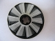 Part No: 2958pb030  Name: Technic, Disk 3 x 3 with Fan Blade Gray Fade Pattern (Sticker) - Set 8269