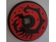 Part No: 2958pb065  Name: Technic, Disk 3 x 3 with Black Scorpion on Red Background Pattern (Sticker) - Set 70589