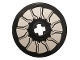 Part No: 2958pb073  Name: Technic, Disk 3 x 3 with Silver Rotor Blades Pattern (Sticker) - Set 76144