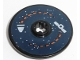 Part No: 2958pb079  Name: Technic, Disk 3 x 3 with Satellite and Rocket Orbit Pattern (Sticker) - Set 60228