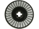 Part No: 2958pb081  Name: Technic, Disk 3 x 3 with Silver and Light Bluish Gray Fan Pattern
