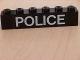 Part No: 3009pb062  Name: Brick 1 x 6 with White 'POLICE' Sans-Serif Thin Pattern (Sticker) - Set 6540