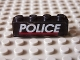 Part No: 3010pb080  Name: Brick 1 x 4 with White 'POLICE' Red Line on Black Background Pattern (Sticker) - Set 6598