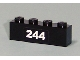Part No: 3010pb101  Name: Brick 1 x 4 with White '244' Pattern (Sticker) - Set 7641