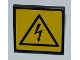 Part No: 30258pb022  Name: Road Sign 2 x 2 Square with Clip with Electricity Danger Sign Pattern (Sticker) - Set 8186