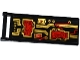 Part No: 30292pb028  Name: Flag 7 x 3 with Rod with Red Wires and Gold Circuitry Pattern (Sticker) - Set 70738