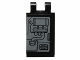 Part No: 30350bpb005L  Name: Tile, Modified 2 x 3 with 2 Clips with SW Machinery and Piping Pattern Model Left Side (Sticker) - Set 75018