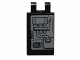 Part No: 30350bpb005R  Name: Tile, Modified 2 x 3 with 2 Clips with SW Machinery and Piping Pattern Model Right Side (Sticker) - Set 75018