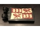 Part No: 30350bpb089  Name: Tile, Modified 2 x 3 with 2 Clips with Gryffindor Banner Pattern (Sticker) - Set 71043