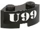 Part No: 3063pb01  Name: Brick, Round Corner 2 x 2 Macaroni with 'U99' Pattern (Sticker) - Set 7885