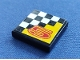 Part No: 3068bpb0003  Name: Tile 2 x 2 with Groove with Number  5 and Checkered Pattern (Sticker) - Set 8225