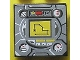 Part No: 3068bpb0131  Name: Tile 2 x 2 with Groove with Gauges and Yellow Navigation Screen on Light Gray Background Pattern (Sticker) - Sets 8482 / 8483