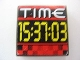 Part No: 3068bpb0352  Name: Tile 2 x 2 with Groove with 'TIME' and '15:37:03' Pattern (Sticker) - Set 8279