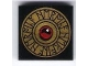 Part No: 3068bpb0420  Name: Tile 2 x 2 with Groove with Gold Heroica Shield with Runes Pattern