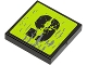 Part No: 3068bpb0471  Name: Tile 2 x 2 with Groove with Splatters and Black '9' on Lime Background Pattern (Sticker) - Set 8708