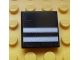 Part No: 3068bpb0651  Name: Tile 2 x 2 with Groove with Two Flat Silver Stripes on Black Background Pattern (Sticker) - Set 8658