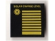 Part No: 3068bpb0682  Name: Tile 2 x 2 with Groove with Yellow 'SOLAR CHARGE LEVEL', Sun and Lines Pattern