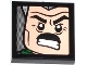 Part No: 3068bpb0766  Name: Tile 2 x 2 with Groove with J. Jonah Jameson on Screen Pattern 4 (Sticker) - Set 76005