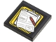 Part No: 3068bpb0837  Name: Tile 2 x 2 with Groove with Clipboard with Paper and Pen Pattern (Sticker) - Set 60060