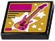 Part No: 3068bpb0949  Name: Tile 2 x 2 with Groove with Guitar and Stars Pattern (Sticker) - Set 41106